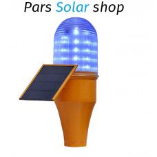چراغ دکل خورشیدی با 50 لامپ LED آبی